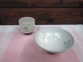 かえるのご飯茶碗と湯呑 その1